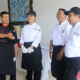 This cooking class is tutored by our native Balinese chefs who know well Balinese food. They will guide and assist you by a fun teaching method.