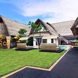 Compared to other villa types, this two bedroom private pool villa has the most expansive lush garden compound that expected by every family or group for their holiday in Bali.