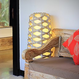 Unique and artsy light décor made by Balinese artisan is inspired by Balinese traditional animal cage.